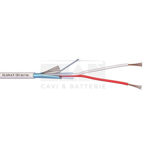 CAVO ALLARME SCHERMATO 2x0,22 PVC 100MT</br>