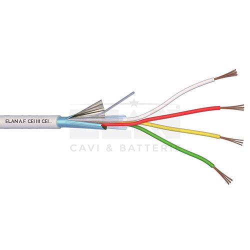 CAVO ALLARME SCHERMATO 4x0,22 PVC 100MT</br>
