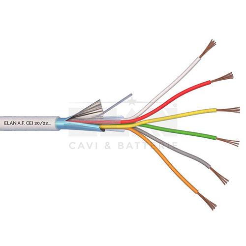 CAVO ALLARME SCHERMATO 6x0,22 PVC 100MT</br>