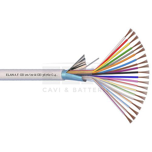CAVO ALLARME SCHERMATO 20x0,22 PVC 100MT</br>