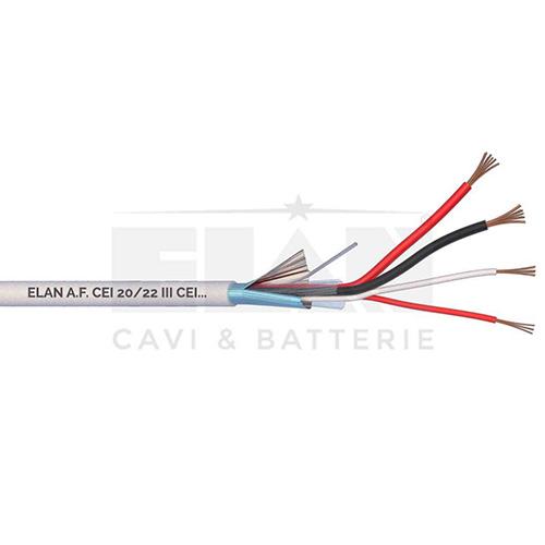 CAVO ALLARME SCHERMATO 2x0,50+2x0,22 PVC 100MT</br>