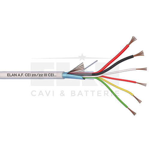 CAVO ALLARME SCHERMATO 2x0,50+4x0,22 PVC 100MT</br>