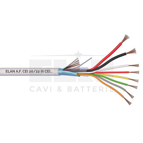 CAVO ALLARME SCHERMATO 2x0,50+6x0,22 PVC 100MT</br>