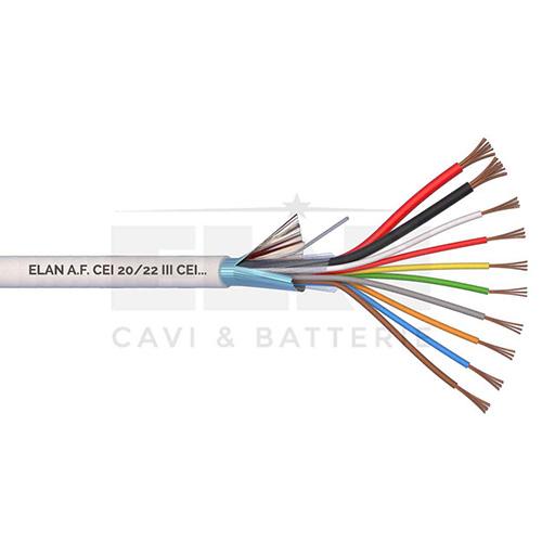CAVO ALLARME SCHERMATO 2x0,50+8x0,22 PVC 100MT</br>