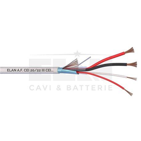 CAVO ALLARME SCHERMATO 2x0,75+2x0,22 PVC 100MT</br>