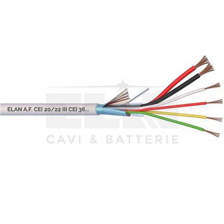 CAVO ALLARME SCHERMATO 2x0,75+4x0,22 PVC 100MT</br>