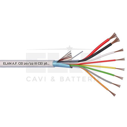 CAVO ALLARME SCHERMATO 2x0,75+6x0,22 PVC 100MT</br>
