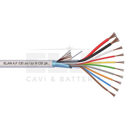CAVO ALLARME SCHERMATO 2x0,75+8x0,22 PVC 100MT</br>