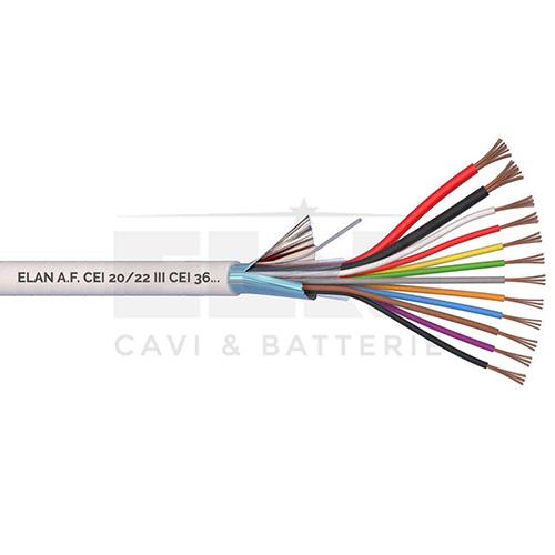 CAVO ALLARME SCHERMATO 2x0,75+10x0,22 PVC 100MT</br>
