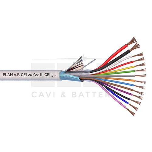 CAVO ALLARME SCHERMATO 2x0,75+12x0,22 PVC 100MT</br>