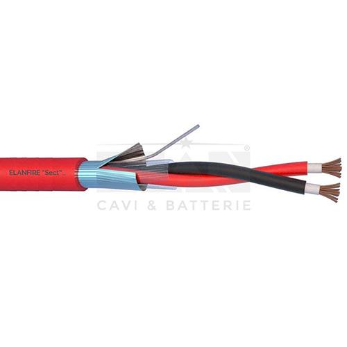 CAVO RESISTENTE AL FUOCO EN 50200 IEC 60331</br>GUAINA IN LSZH 750V. ANIME MICA/LSZH</br>NORME: CEI-20/22 - 20/36 - 20/37 - 20/105</br>CAVI ANTINCENDIO ELANFIRE TWISTATI SCHERMATI - EN50200 - PH120</br>Cavi antincendio ELANFIRE twistati e schermati, resistenti alla fiamma EN50200 -</br> PH120. Bassa emissione fumi e gas tossici.</br>