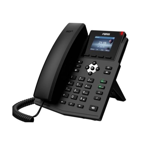 """Telefono IP desktop Nuova Versione Business</br>4 Account SIP</br>Display LCD a Colori da 2,8""""</br>Audio HD G722 e OPUS</br>Doppia porta Gigabit Ethernet 1000Mbps, PoE.</br>VMWI (avviso msg casella vocale)</br>Supporto EHS Jabra (vedi scheda prodotto per compatiblità)</br>"""