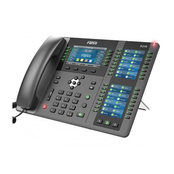 """Telefono IP desktop High-end Enterprise</br>20 Account SIP</br>Display TFT a 3 colori da 4,3"""" con 10 tasti DSS</br>Tripla DSS a pagine dinamiche con Display a colori 2x3,5"""" (Max 96 tasti)</br>Bluetooth Integrato</br>Connettività Wi-Fi (con Dongle Wi-Fi)</br>Decodifica Video (da telecamera IP e da citofono)</br>Tecnologia Optima HD Voice di Fanvil</br>Doppia porta Gigabit Ethernet 1000Mbps, PoE.</br>VMWI (avviso msg casella vocale)</br>Supporto EHS Jabra (vedi scheda prodotto per compatibilità)</br>"""