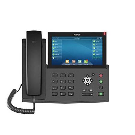 """Telefono IP desktop High-end Enterprise</br>20 Account SIP</br>Display touch capacitivo 7"""" con fino a  127 tasti DSS</br>Bluetooth Integrato</br>Connettività Wi-Fi (con Dongle Wi-Fi).</br>Connessione USB per ricarica Smartphone.</br>Decodifica Video H.264 (da telecamera IP e da citofono)</br>Tecnologia Optima HD Voice di Fanvil</br>Doppia porta Gigabit Ethernet 10/100/1000Mbps, PoE.</br>VMWI (avviso msg casella vocale)</br>Decodifica Video (da telecamera IP e da citofono)</br>Supporto EHS Jabra (vedi scheda prodotto per compatibilità)</br></br>"""