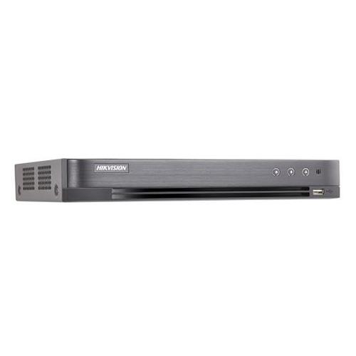 DVR Hybrid 4 CH self-adaptive HDTVI  3MP  /AHD 2MP / HD CVI 2MP/IP/CVBS, accetta fino a 2 telecamera IP a  6MP, Fino a 6 Canali. risoluzione analogica TVI fino a  3MP@15Fps/2MP Lite@25Fps, compressione video H.265+/H.265/H.264+/H.264, uscita video HDMI - VGA - CVBS, I/O audio 1/1, I/O Allarmi 4/1.1 RJ45 10M/100M, protocolli di rete TCP/IP, PPPoE, DHCP, Hik-Connect, DNS, DDNS, NTP, SADP, NFS, iSCSI, UPnP, HTTPS, ONVIF. Supporta controllo PTZ via Omnicat, sino a 128 connessioni simultanee, supporta accesso a Hik-Connect. 1 HDD sata fino a  10TB , 2 porte USB 2.0, 1 RS485 ,alimentazione 12VDC, temperatura di funzionamento -10 °C to +55 °C, assorbimento 6W. Dati Up to coax, Regole SMART:Intrusion detection, line crossing detection, VQD. Playback sincronizzato 4ch.</br>1HDD DA 1TB INCLUSO (SPECIFICO PER APPLICAZIONI DI VIDEOSORVEGLIANZA)</br>