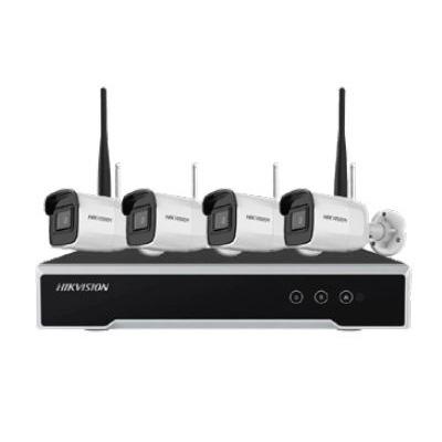 Il Kit contiene:</br>- N. 1 NVR DS-7104NI-K1/W</br>- N. 4 DS-2CD2041G1-IDW</br>- N. 5 ALIMENTATORI</br>- N. 1 CAVO HDMI</br>
