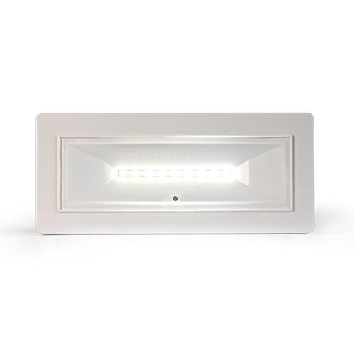 Lampada di illuminazione di emergenza di tipo standard serie DIVA.</br>Potenza 8W. MED. FL (SE) 320 (lm).</br>Durata 3h. Batteria LiFePO4 3,2V@1,5Ah.</br>Non Permanente (SE).</br>IP42.</br>