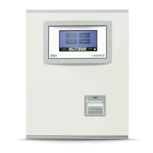 """Centrale di supervisione per impianto di illuminazione di emergenza. 2 loop </br>espandibile ad 8 loop.</br>240 lampade per loop (max 1920).</br>Touch screen 7"""".</br>Alloggiamento per 2 batterie 12V@7Ah.</br>"""